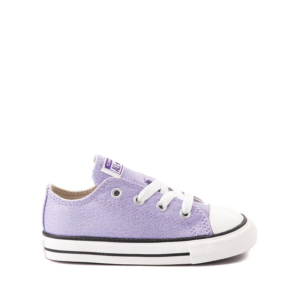 Converse Chuck Taylor All Star Lo Glitter Sneaker - Baby / Toddler - Moonstone
