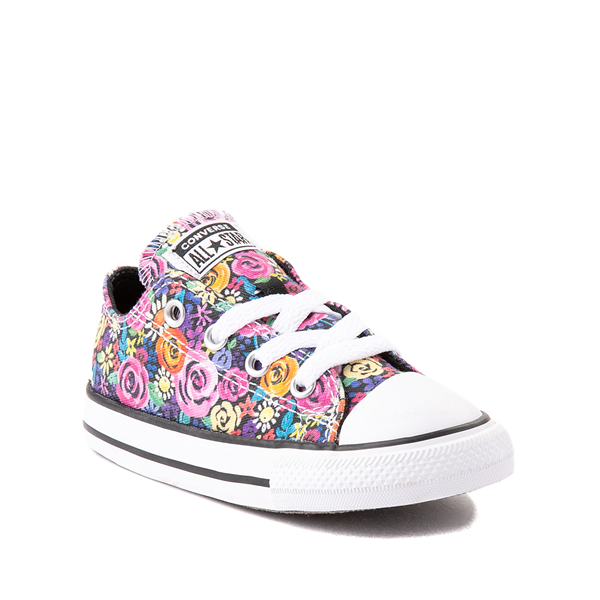alternate view Converse Chuck Taylor All Star Lo Sneaker - Baby / Toddler - Painted FloralALT5