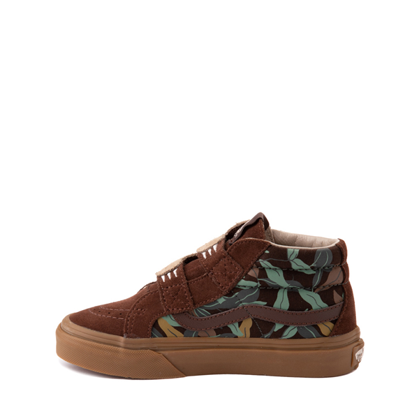 alternate view Vans Sloth Sk8 Mid Reissue V Skate Shoe - Little Kid - Potting Soil / Classic GumALT1