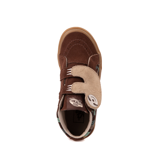 alternate view Vans Sloth Sk8 Mid Reissue V Skate Shoe - Little Kid - Potting Soil / Classic GumALT2