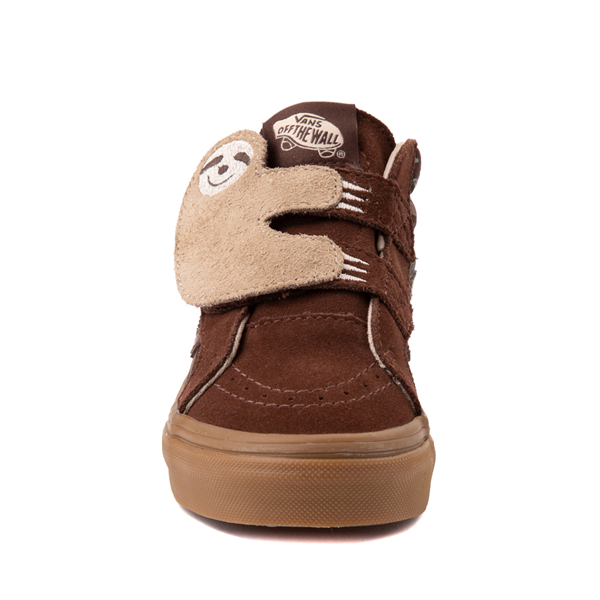 alternate view Vans Sloth Sk8 Mid Reissue V Skate Shoe - Little Kid - Potting Soil / Classic GumALT4