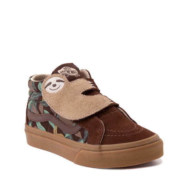 alternate view Vans Sloth Sk8 Mid Reissue V Skate Shoe - Little Kid - Potting Soil / Classic GumALT5