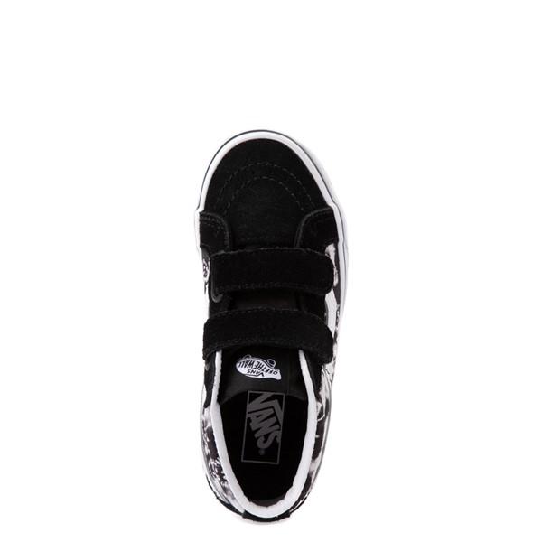 alternate view Vans Sk8 Mid Reissue V Tie Dye Skate Shoe - Little Kid - Black / SkullALT2
