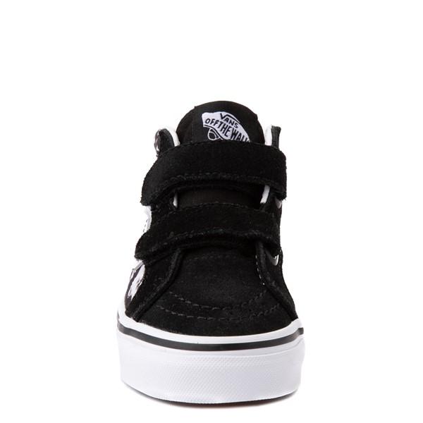 alternate view Vans Sk8 Mid Reissue V Tie Dye Skate Shoe - Little Kid - Black / SkullALT4