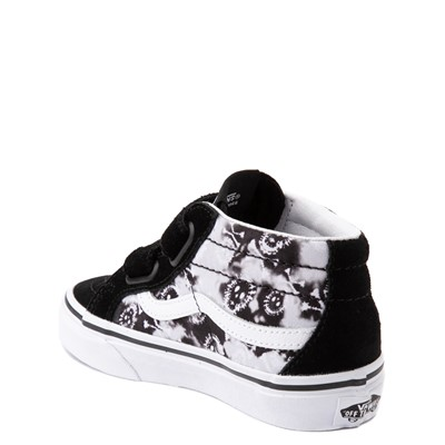 Alternate view of Vans Sk8 Mid Reissue V Tie Dye Skate Shoe - Little Kid - Black / Skull