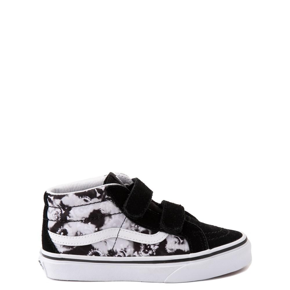 Vans Sk8 Mid Reissue V Tie Dye Skate Shoe - Little Kid - Black / Skull