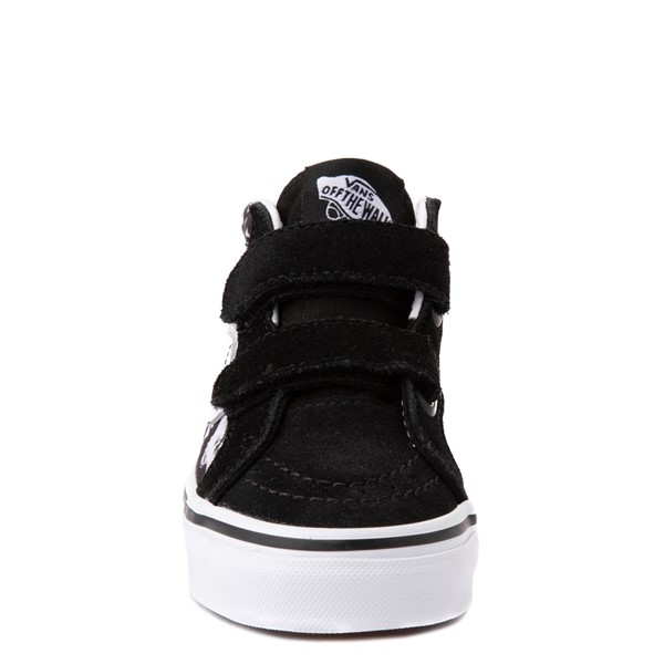 alternate view Vans Sk8 Mid Reissue V Tie Dye Skate Shoe - Big Kid - Black / SkullALT4