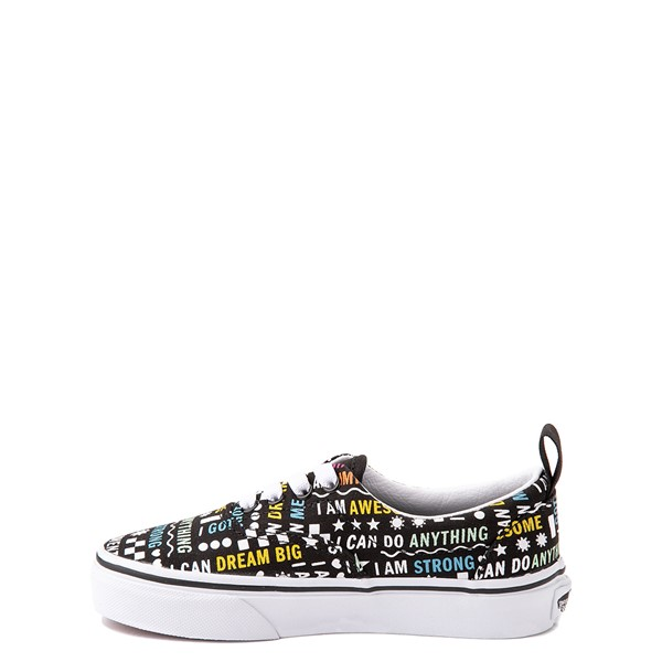 alternate view Vans Era Shine Bright Skate Shoe - Little Kid - Black / MulticolorALT1