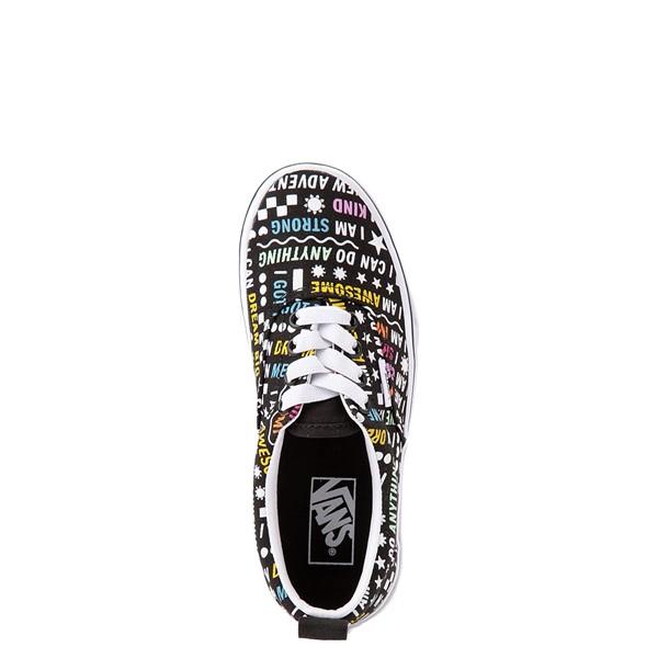 alternate view Vans Era Shine Bright Skate Shoe - Little Kid - Black / MulticolorALT2