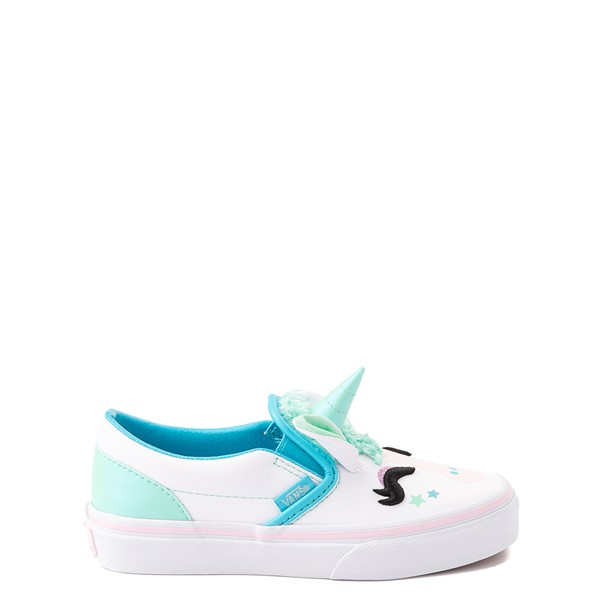 Vans Slip On Disco Unicorn Skate Shoe - Little Kid - White