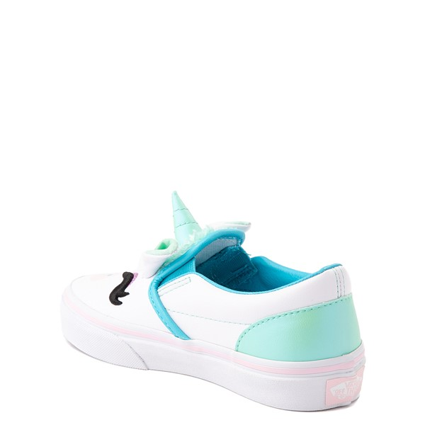 alternate view Vans Slip On Disco Unicorn Skate Shoe - Little Kid - WhiteALT1
