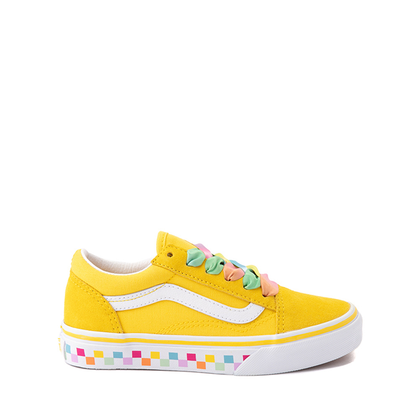 Vans Old Skool Skate Shoe - Little Kid - Cyber Yellow / Rainbow