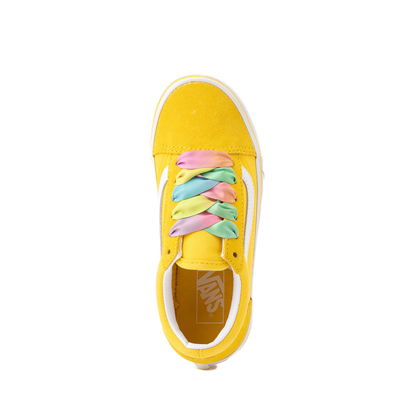 alternate view Vans Old Skool Skate Shoe - Little Kid - Cyber Yellow / RainbowALT2