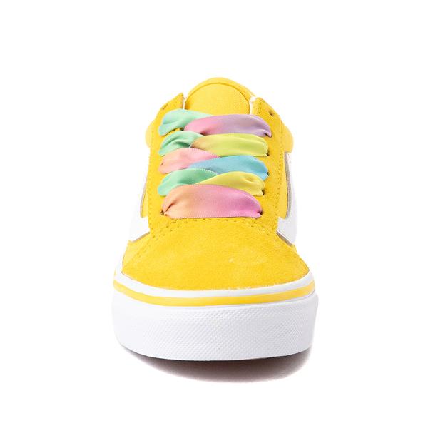 alternate view Vans Old Skool Skate Shoe - Little Kid - Cyber Yellow / RainbowALT4