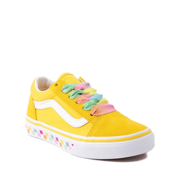 alternate view Vans Old Skool Skate Shoe - Little Kid - Cyber Yellow / RainbowALT5