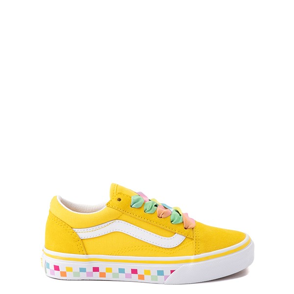 Vans Old Skool Skate Shoe - Big Kid - Cyber Yellow / Rainbow