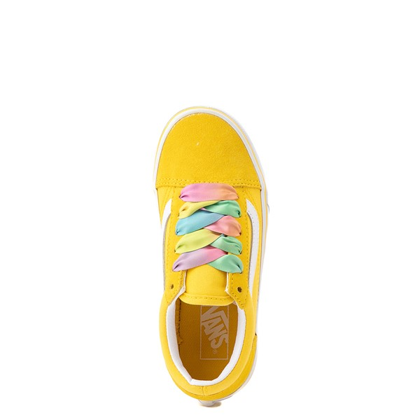 alternate view Vans Old Skool Skate Shoe - Big Kid - Cyber Yellow / RainbowALT4B