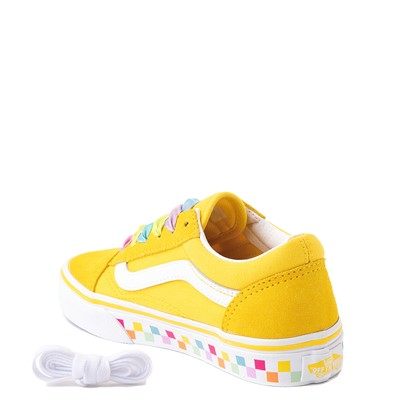 Alternate view of Vans Old Skool Skate Shoe - Big Kid - Cyber Yellow / Rainbow