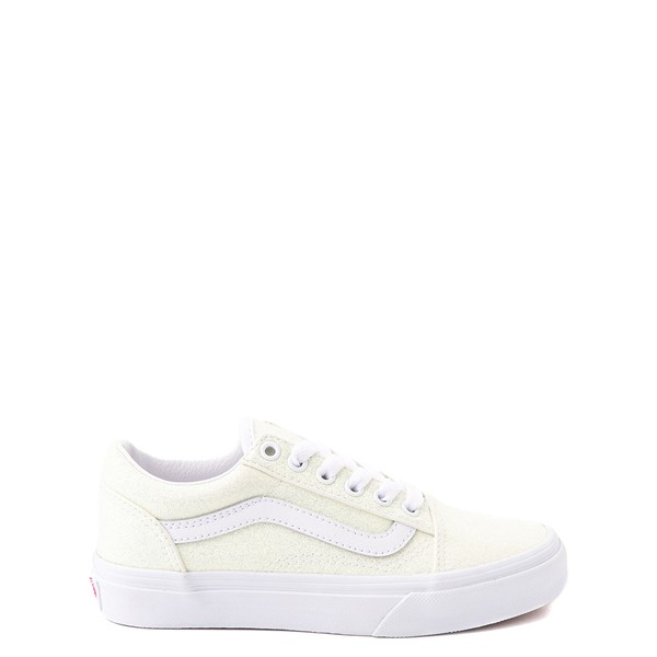 Main view of Vans Old Skool Skate Shoe - Little Kid - White / UV Glitter