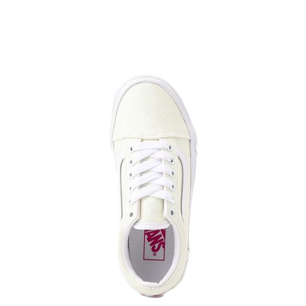 alternate view Vans Old Skool Skate Shoe - Little Kid - White / UV GlitterALT2