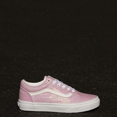 Alternate view of Vans Old Skool Skate Shoe - Little Kid - White / UV Glitter