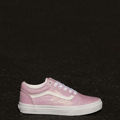 Alternate view of Vans Old Skool Skate Shoe - Little Kid - White / UV Glitter