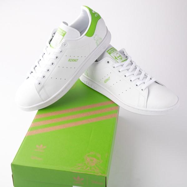 alternate view Mens adidas Stan Smith Kermit The Frog Athletic Shoe - WhiteALT1B