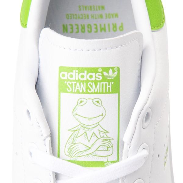 alternate view Mens adidas Stan Smith Kermit The Frog Athletic Shoe - WhiteALT1D