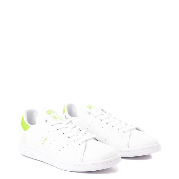 alternate view Mens adidas Stan Smith Kermit The Frog Athletic Shoe - WhiteALT5