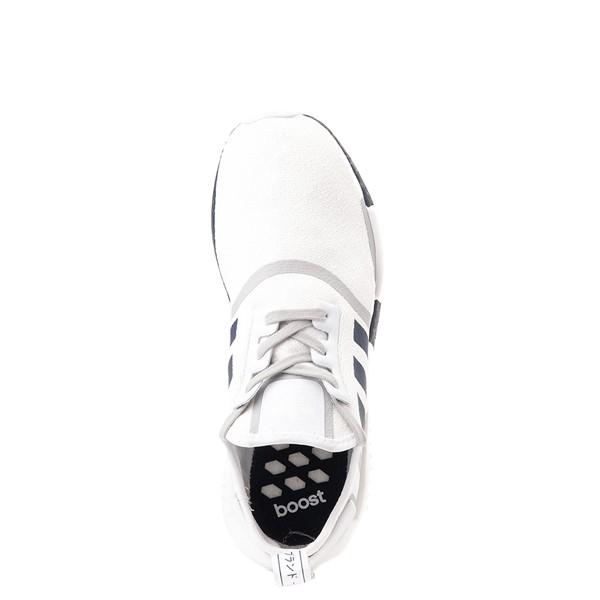 alternate view Mens adidas NMD R1 Athletic Shoe - White / NavyALT2