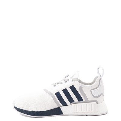Alternate view of Mens adidas NMD R1 Athletic Shoe - White / Navy