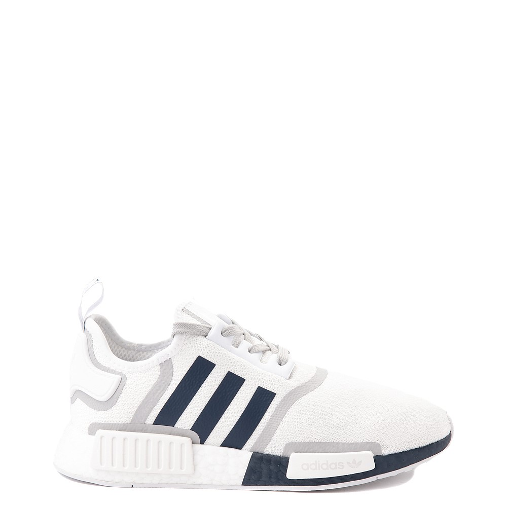 Mens adidas NMD R1 Athletic Shoe - White / Navy