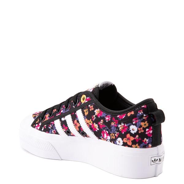 alternate view Womens adidas Nizza Platform Athletic Shoe - Black / FloralALT1