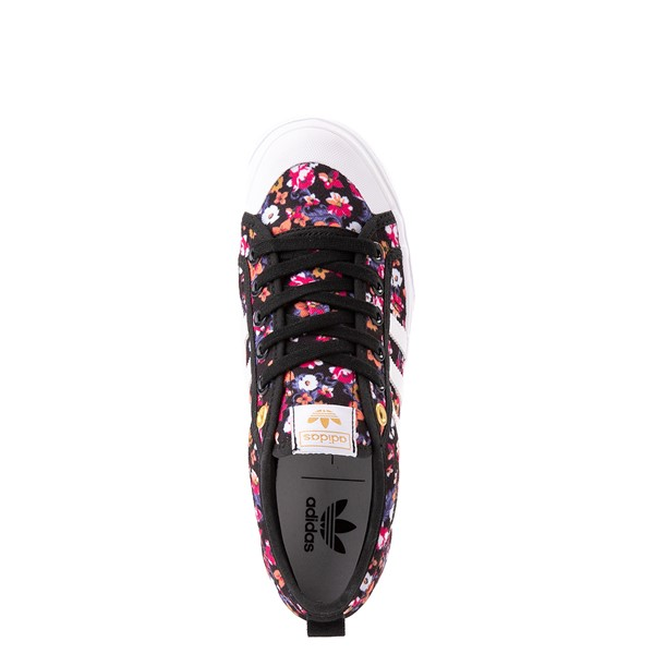 alternate view Womens adidas Nizza Platform Athletic Shoe - Black / FloralALT2