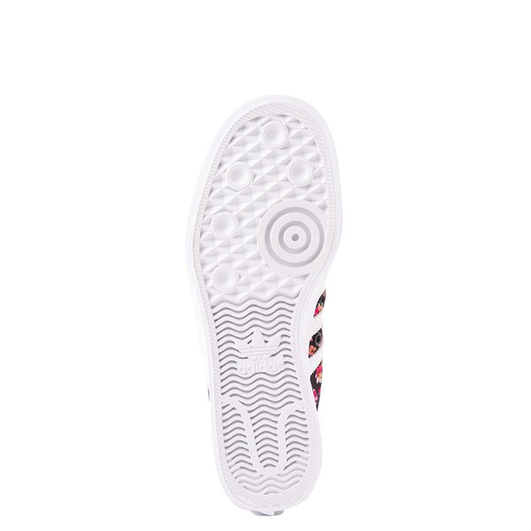 alternate view Womens adidas Nizza Platform Athletic Shoe - Black / FloralALT3