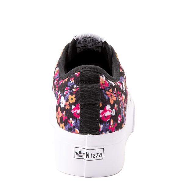 alternate view Womens adidas Nizza Platform Athletic Shoe - Black / FloralALT4