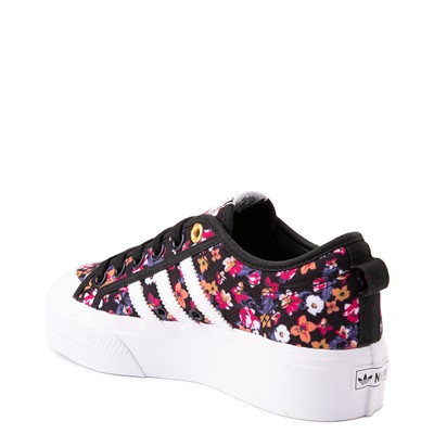 Alternate view of Womens adidas Nizza Platform Athletic Shoe - Black / Floral