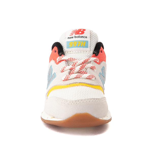 alternate view New Balance 997H Athletic Shoe - Baby / Toddler - White / MulticolorALT4