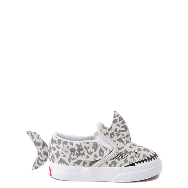 Main view of Vans Slip On V Shark Skate Shoe - Baby / Toddler - Leopard Shark