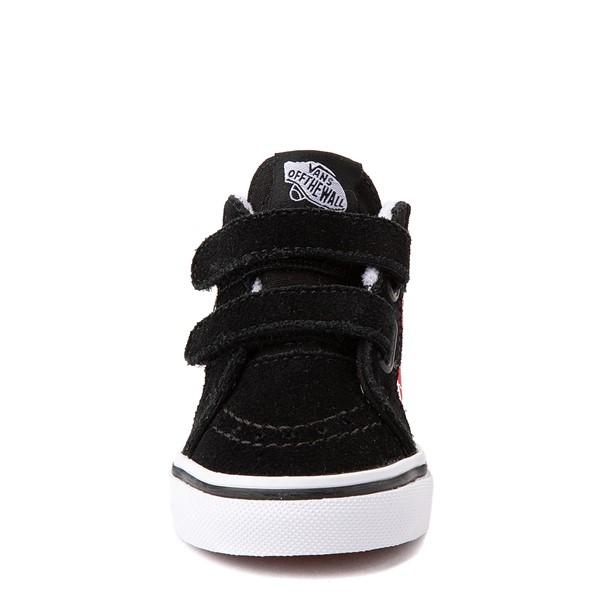 alternate view Vans Sk8 Mid Reissue V Xtreme Sharks Checkerboard Skate Shoe - Baby / Toddler - BlackALT4