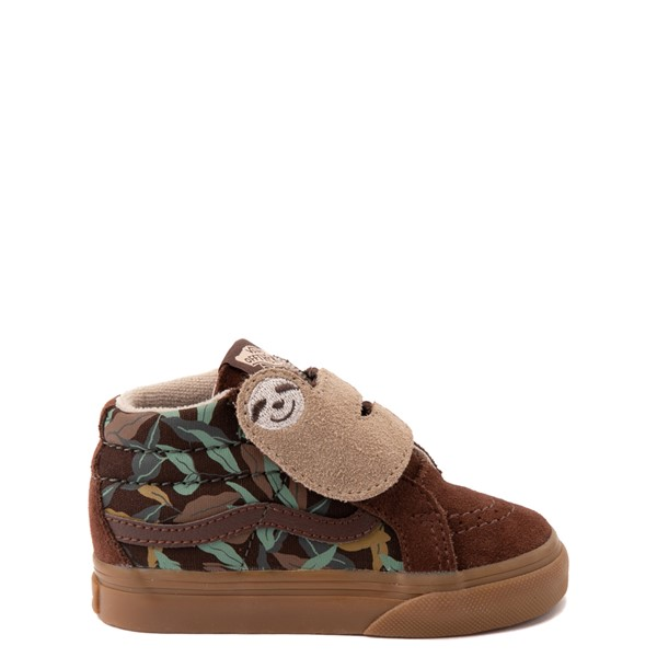 Main view of Vans Sloth Sk8 Mid Reissue V Skate Shoe - Baby / Toddler - Potting Soil / Classic Gum