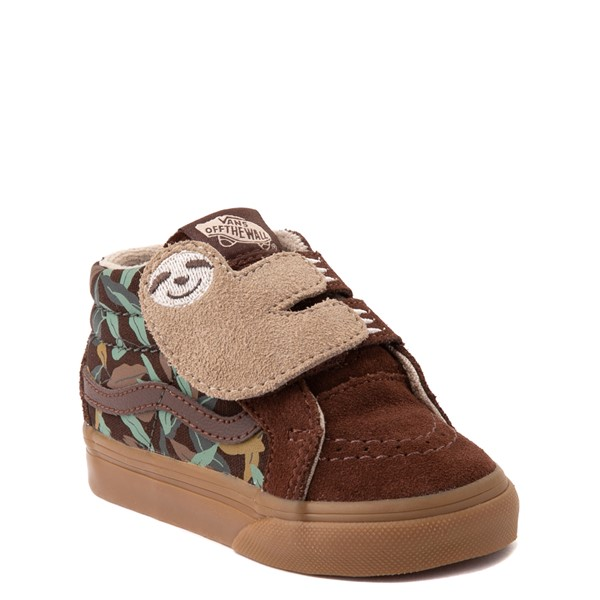 alternate view Vans Sloth Sk8 Mid Reissue V Skate Shoe - Baby / Toddler - Potting Soil / Classic GumALT1B