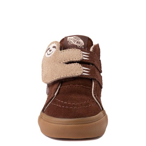 alternate view Vans Sloth Sk8 Mid Reissue V Skate Shoe - Baby / Toddler - Potting Soil / Classic GumALT4