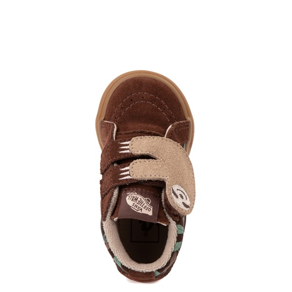alternate view Vans Sloth Sk8 Mid Reissue V Skate Shoe - Baby / Toddler - Potting Soil / Classic GumALT4B