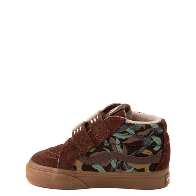 Alternate view of Vans Sloth Sk8 Mid Reissue V Skate Shoe - Baby / Toddler - Potting Soil / Classic Gum