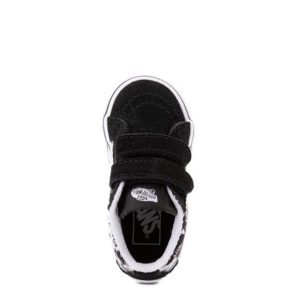 alternate view Vans Sk8 Mid Reissue V Tie Dye Skate Shoe - Baby / Toddler - Black / SkullALT2