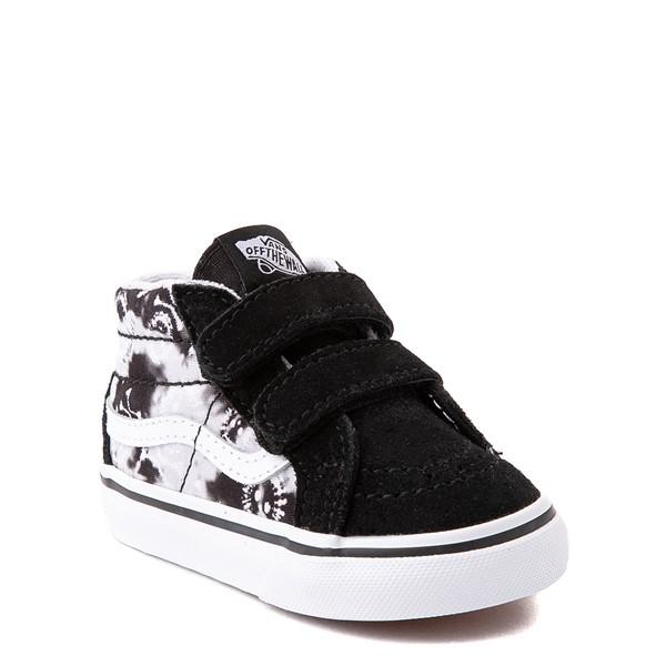 alternate view Vans Sk8 Mid Reissue V Tie Dye Skate Shoe - Baby / Toddler - Black / SkullALT5