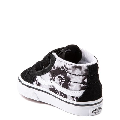 Alternate view of Vans Sk8 Mid Reissue V Tie Dye Skate Shoe - Baby / Toddler - Black / Skull