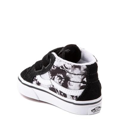 Alternate view of Vans Sk8 Mid Reissue V Tie Dye Skate Shoe - Baby / Toddler - Black / Skull