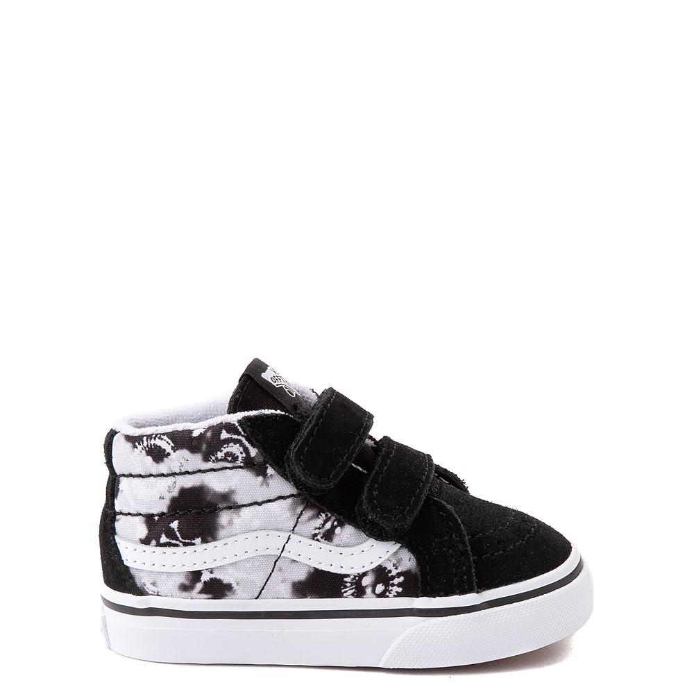 Vans Sk8 Mid Reissue V Tie Dye Skate Shoe - Baby / Toddler - Black / Skull